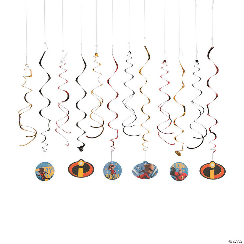 Incredibles 2™ Hanging Swirl Decorations - 12 Pc. Audio Thumbnail