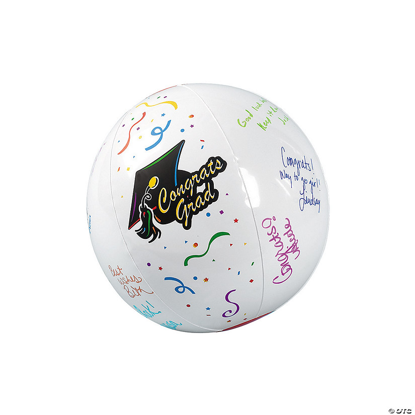 "Inflatable 11"" Autograph Graduation Medium Beach Balls Audio Thumbnail"