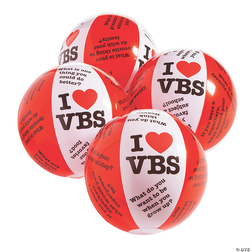 "Inflatable 11"" Get to Know You VBS Medium Beach Balls Image Thumbnail"