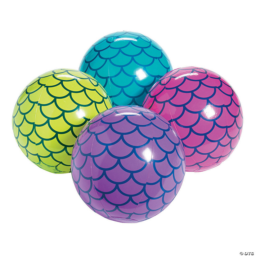 "Inflatable 11"" Mermaid Scales Medium Beach Balls Audio Thumbnail"