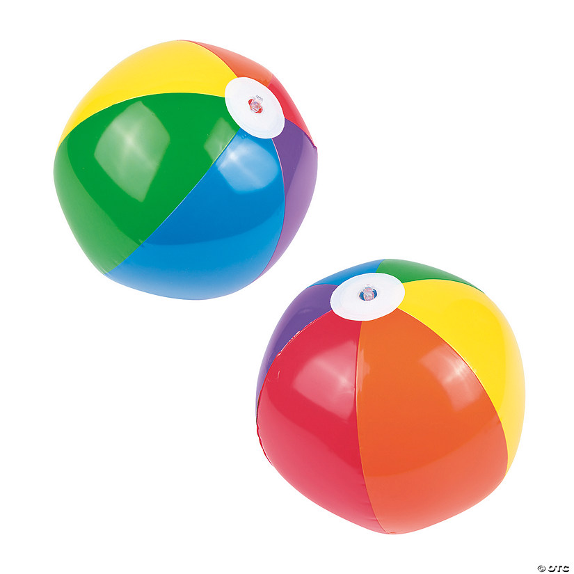 "Inflatable 11"" Rainbow Medium Beach Balls"