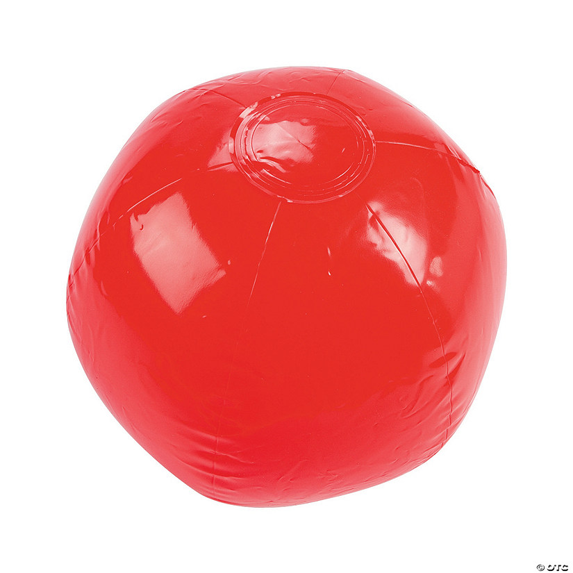 "Inflatable 11"" Red Medium Beach Balls Audio Thumbnail"