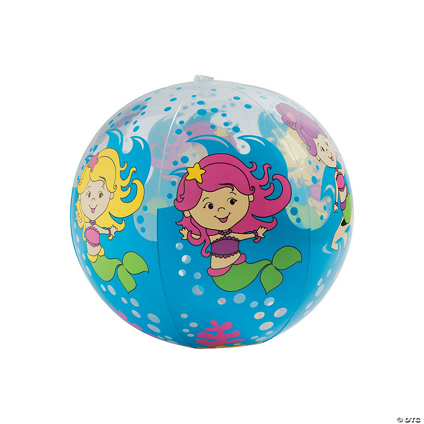 "Inflatable 16"" Mermaid Extra Large Beach Balls"