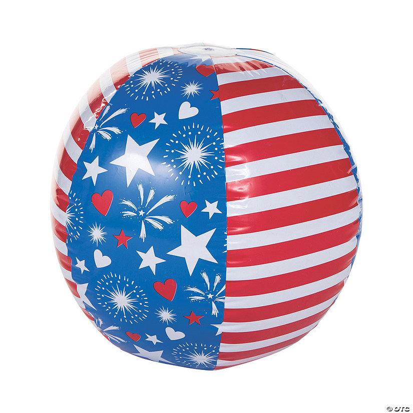 "Inflatable 30"" Patriotic Giant Beach Ball Audio Thumbnail"