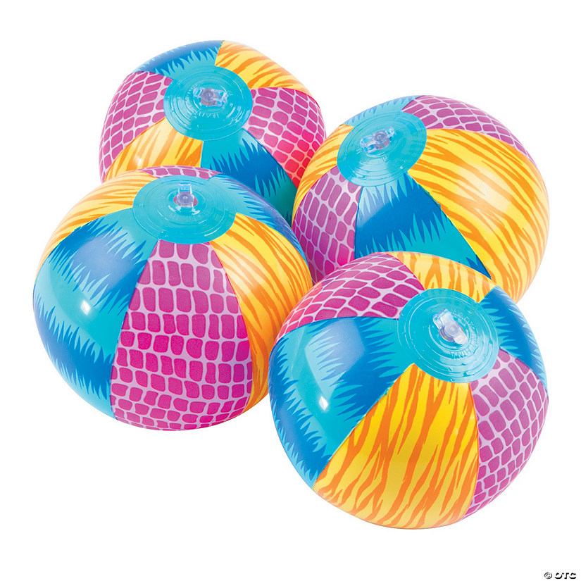 "Inflatable 5"" Bright Animal Mini Beach Balls"