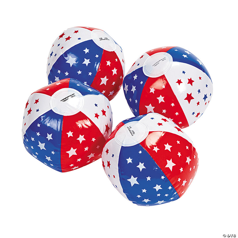 "Inflatable 5"" Patriotic Mini Beach Balls Audio Thumbnail"