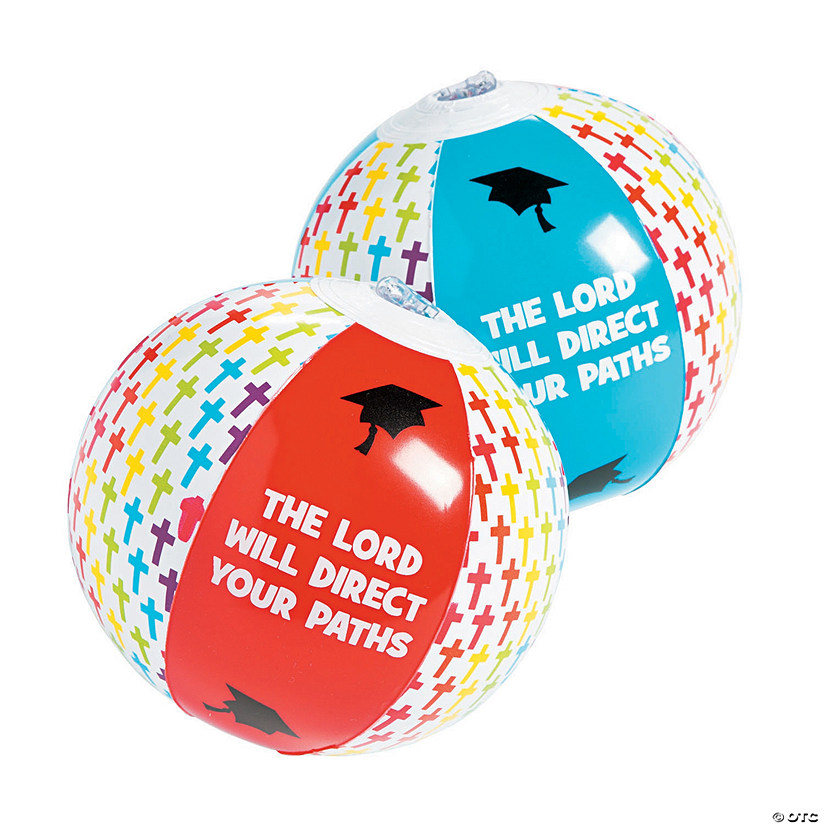 "Inflatable 5"" Religious Graduation Mini Beach Balls Audio Thumbnail"