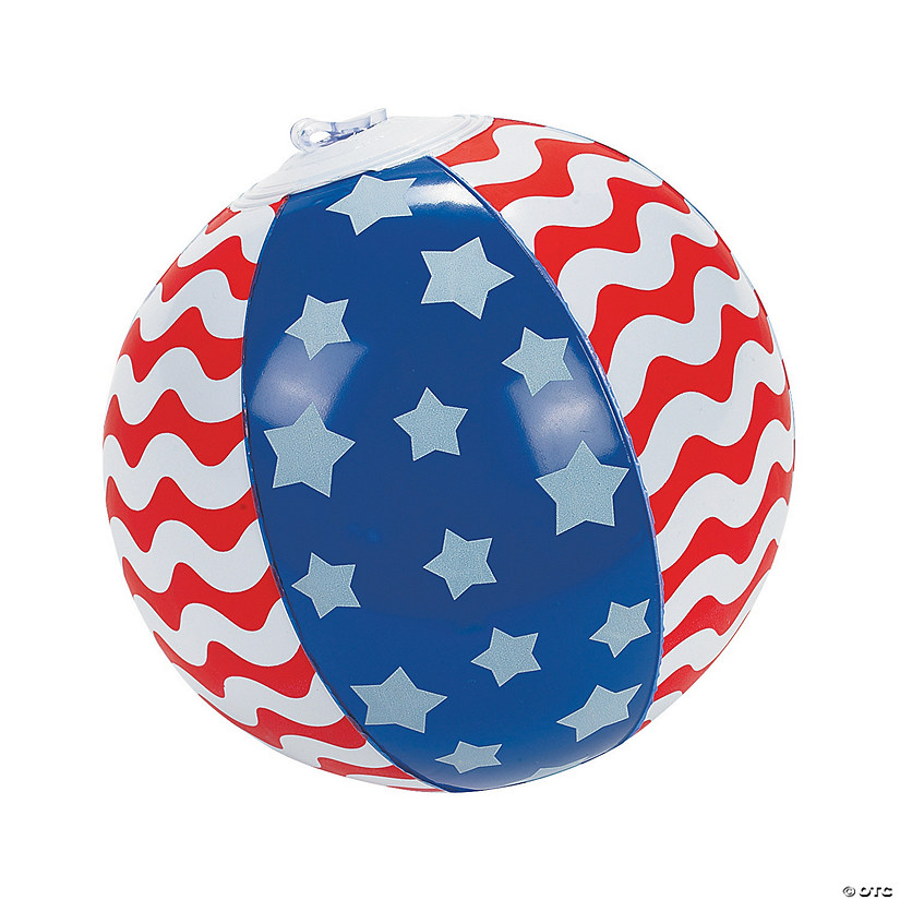 "Inflatable 5"" Stars & Stripes Mini Beach Balls Image Thumbnail"