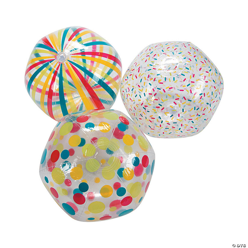 Inflatable Clear Pattern Beach Balls