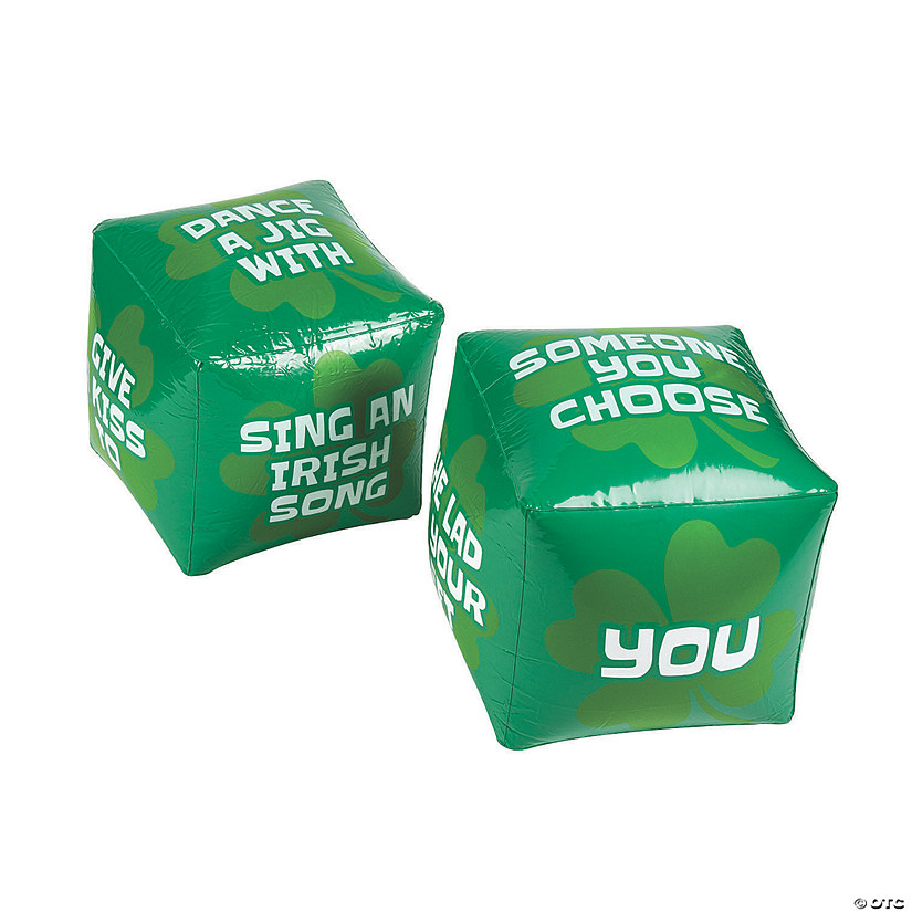 Inflatable Jumbo St. Patrick's Day Dice Set Image Thumbnail