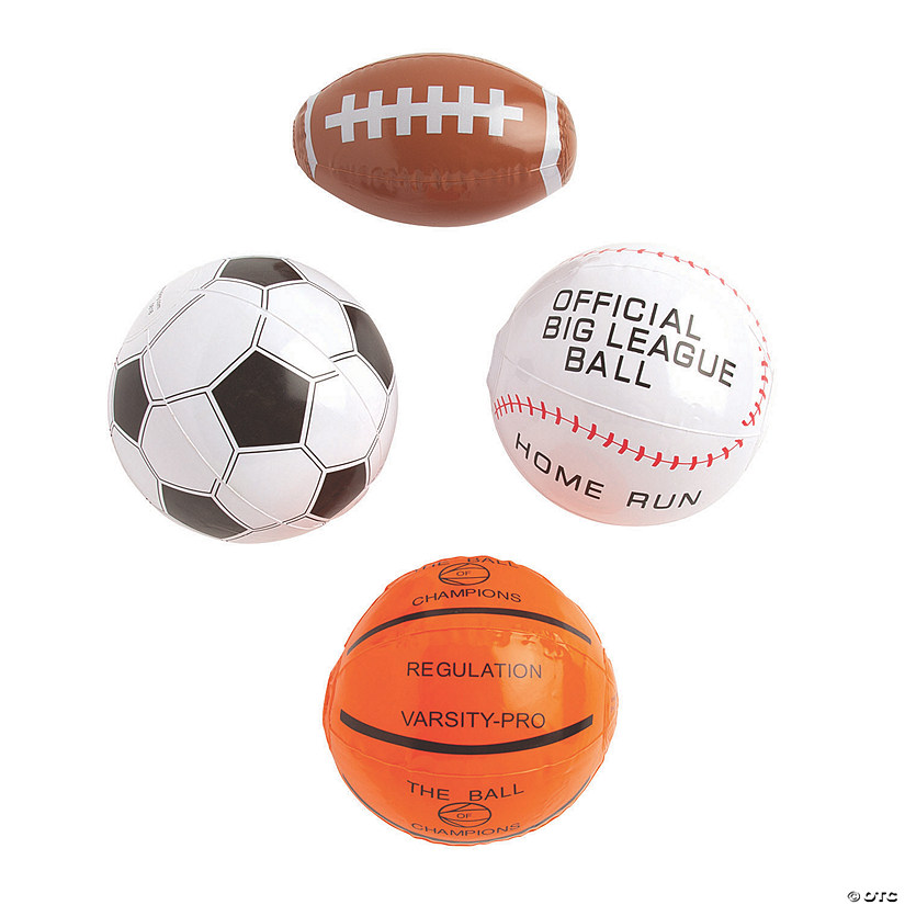Inflatable Mini Sport Ball Assortment Image Thumbnail