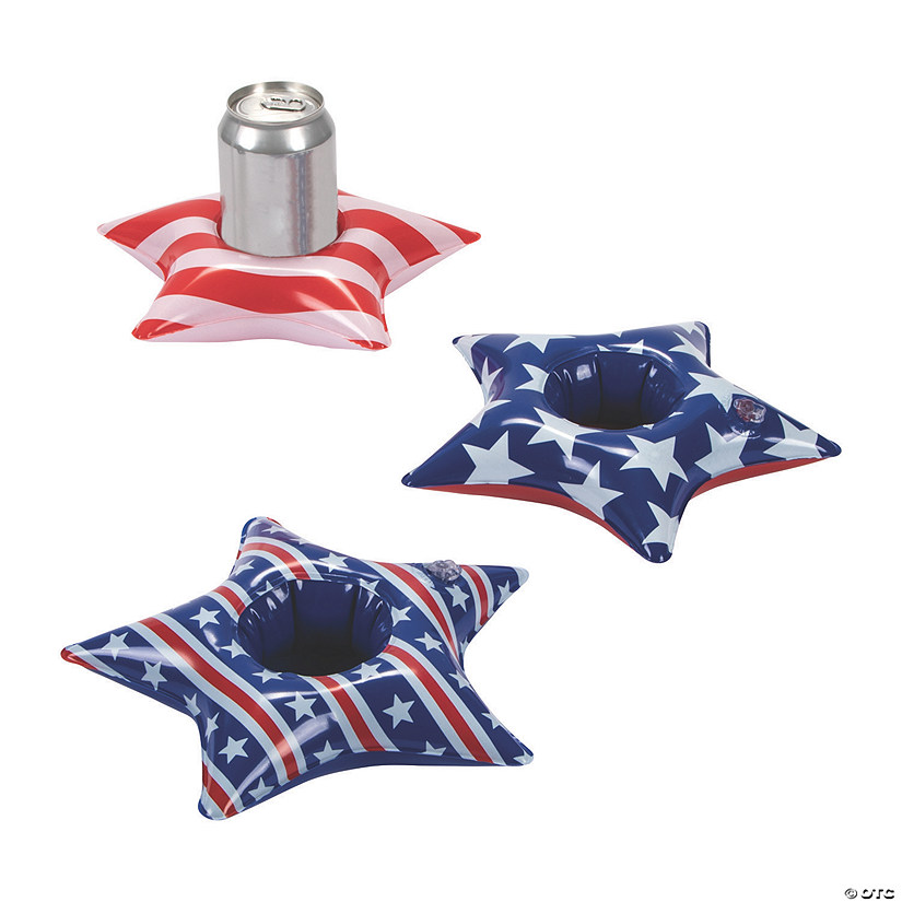 Inflatable Patriotic Star Coasters Image Thumbnail