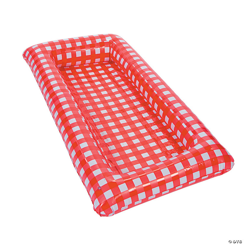 Inflatable Red Gingham Buffet Cooler