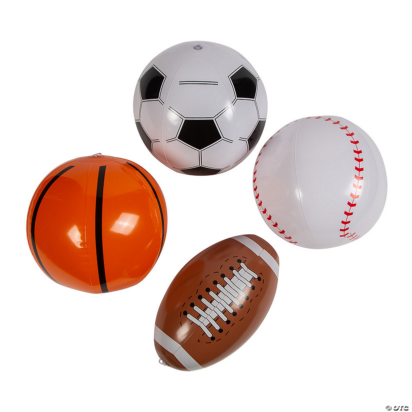 Inflatable Sport Ball Assortment Image Thumbnail