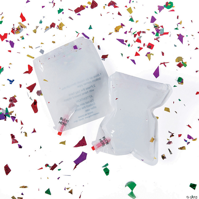 Inflatable White Confetti Bags Audio Thumbnail