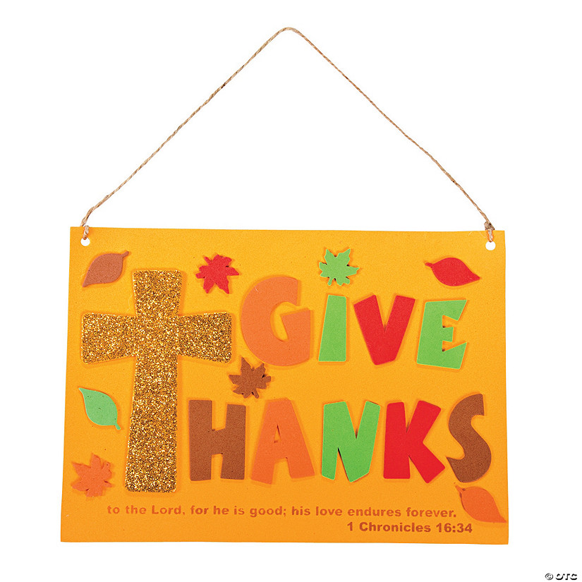 Inspirational Give Thanks Sign Craft Kit Audio Thumbnail