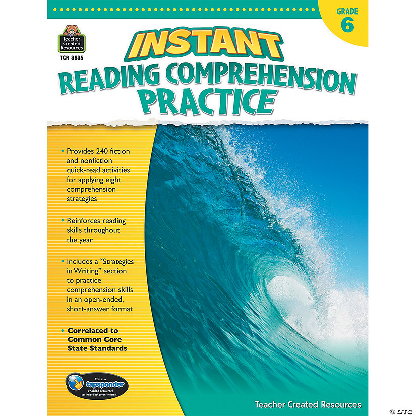 Instant Reading Comprehension Practice: Grade 6