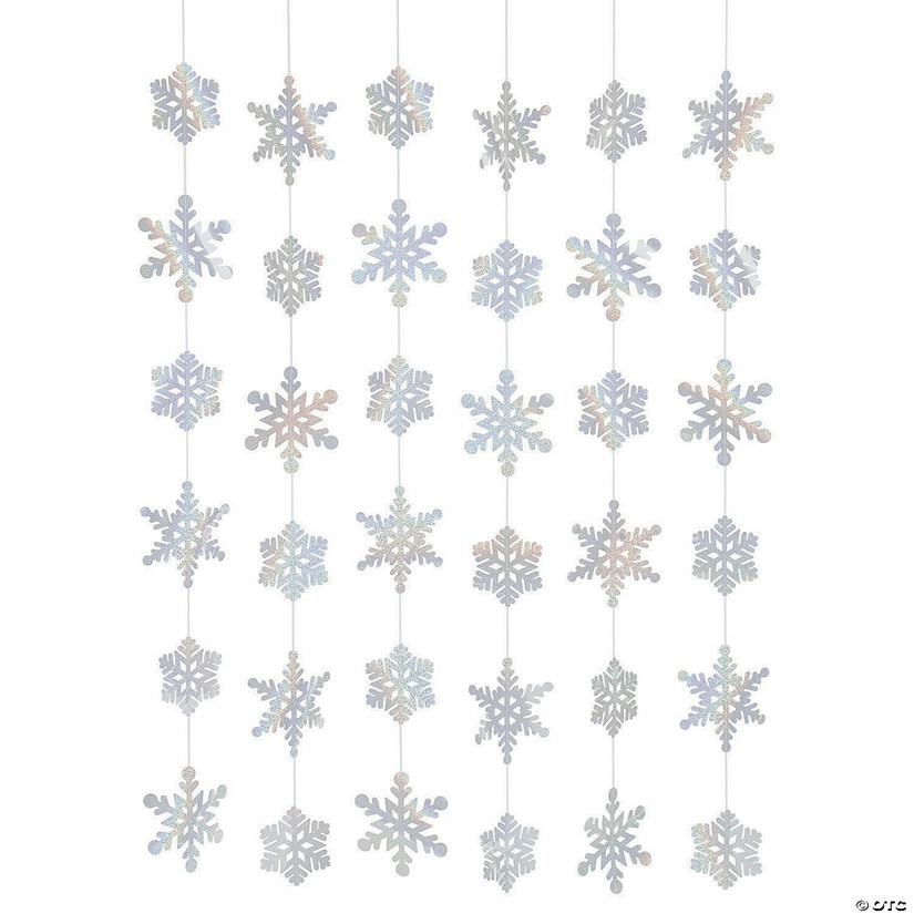 Iridescent Christmas Snowflake Hanging Decorations Audio Thumbnail