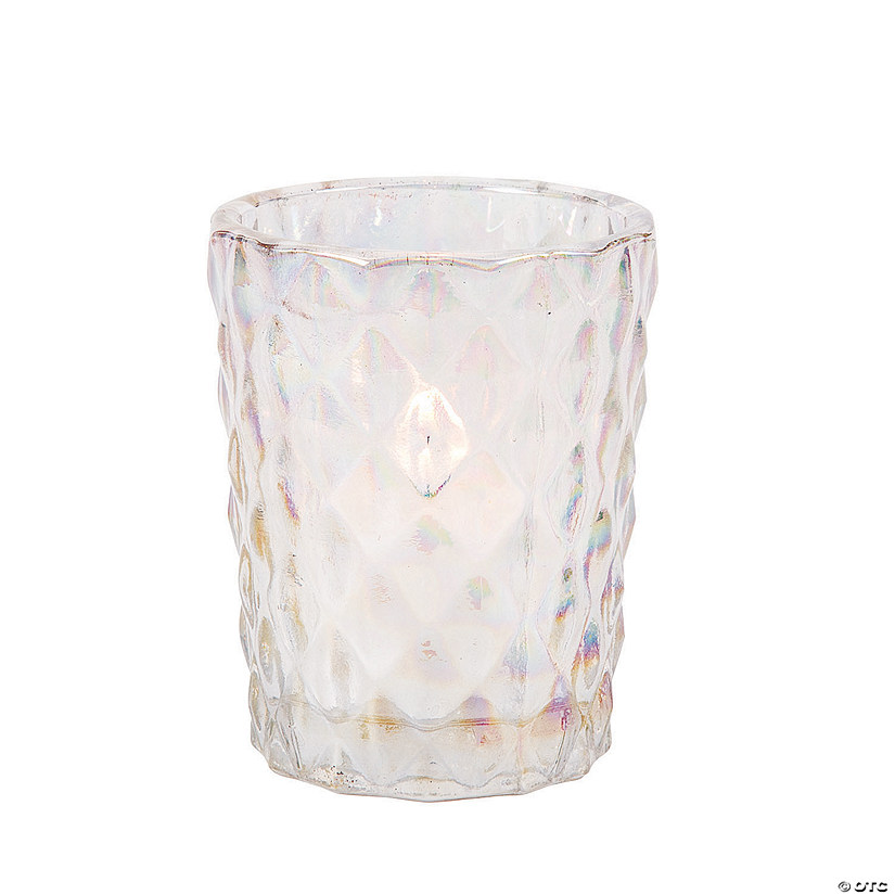 Iridescent Diamond Texture Votive Holders