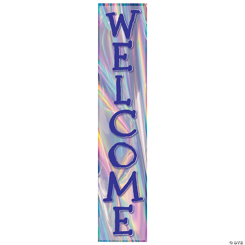 Iridescent Vertical Welcome Banner Audio Thumbnail