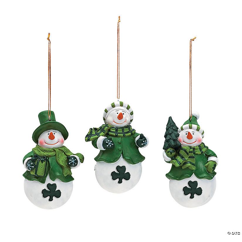Irish Snowman Christmas Ornaments - Discontinued