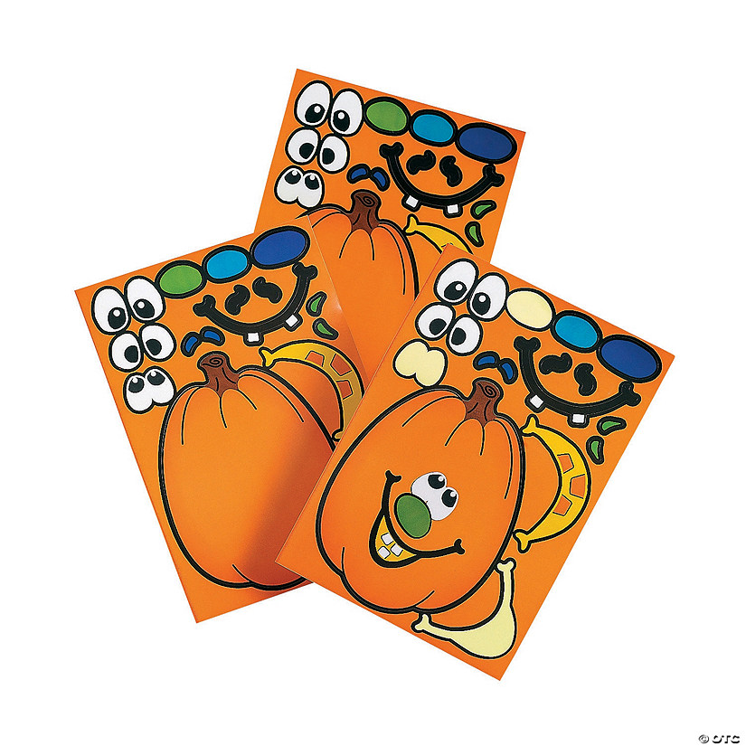 Jack-O'-Lantern Sticker Sheets Image Thumbnail