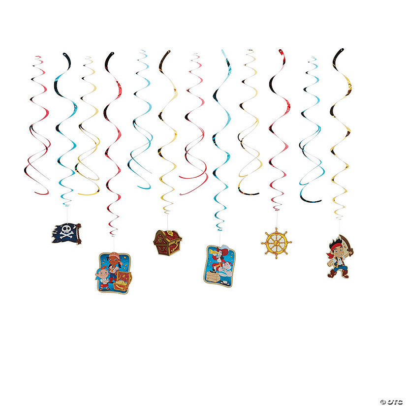 Jake & The Never Land Pirate Hanging Swirl Decorations - 12 Pc. Audio Thumbnail