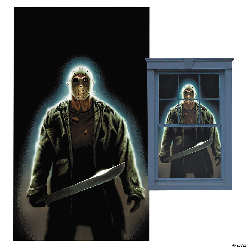 Jason Voorhees Window Poster