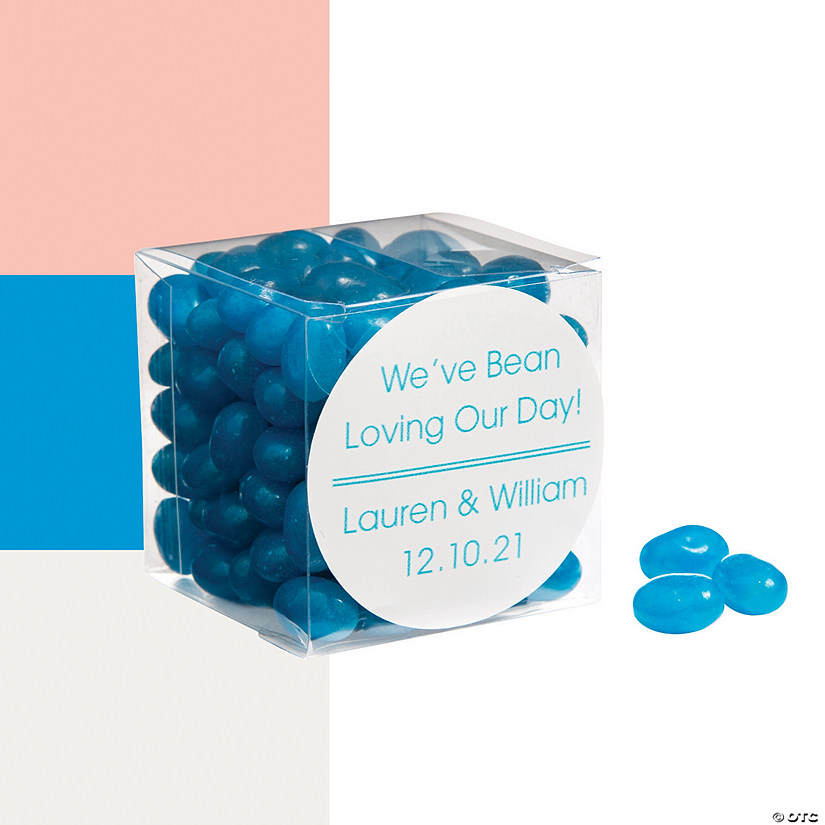 Jelly Bean Favors with Personalized Sticker Image Thumbnail