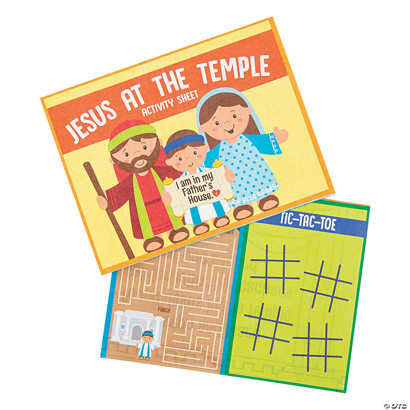 Jesus at the Temple Activity Sheets Audio Thumbnail