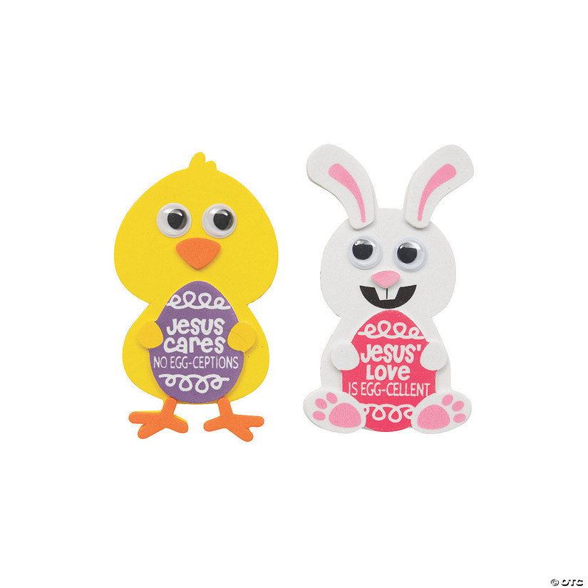 Jesus Cares Chick & Bunny Magnet Craft Kit Image Thumbnail