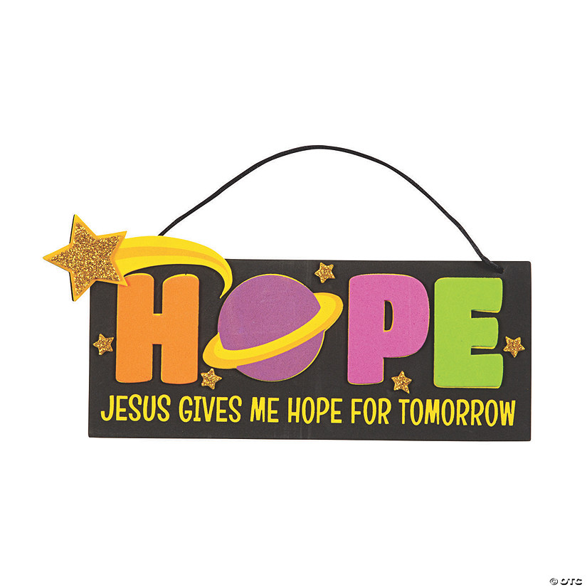 Jesus Gives Me Hope Sign Craft Kit Audio Thumbnail
