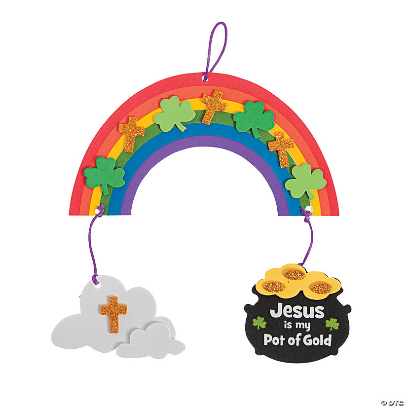 Jesus Is My Pot of Gold St. Patrick's Day Mobile Craft Kit
