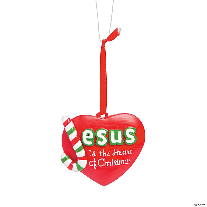 - Jesus Is The Heart Of Christmas Ornaments