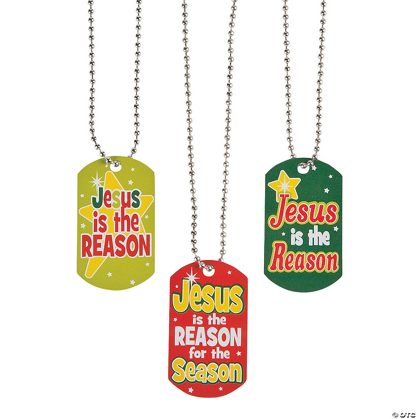 Jesus is the Reason for the Season Dog Tag Necklaces