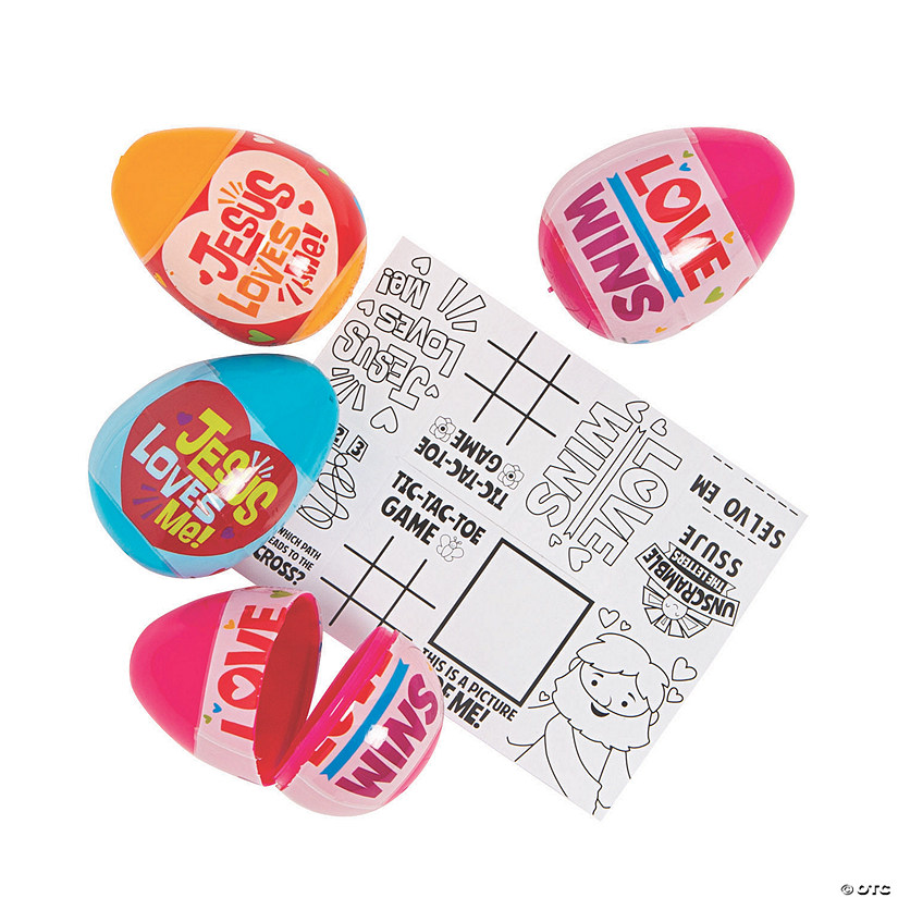 Jesus Loves Me Activity-Filled Plastic Easter Eggs - 48 Pc. Audio Thumbnail