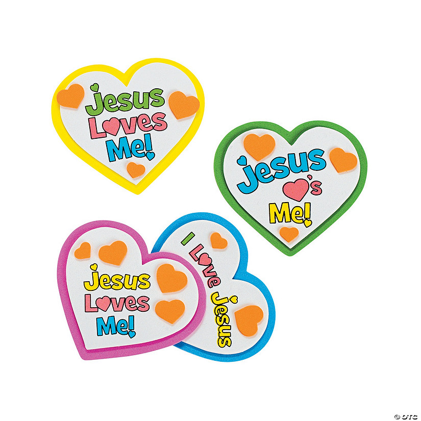 """Jesus Loves Me"" Heart Magnet Craft Kit Audio Thumbnail"