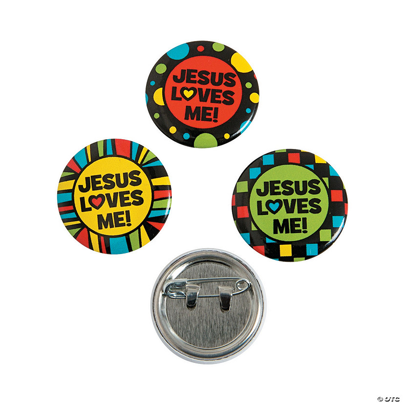 Jesus Loves Me Mini Buttons