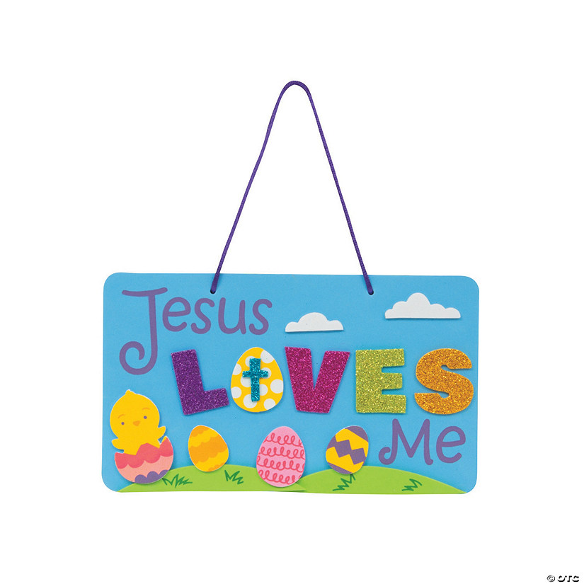 Jesus Loves Me Sign Craft Kit Image Thumbnail