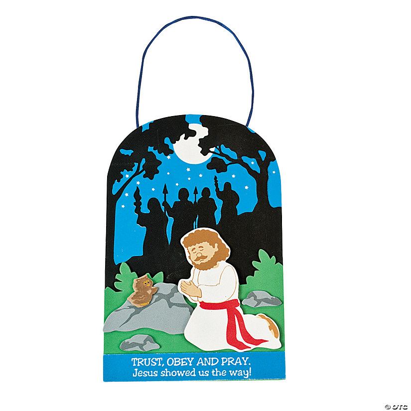 Jesus Praying In The Garden Sign Craft Kit Discontinued