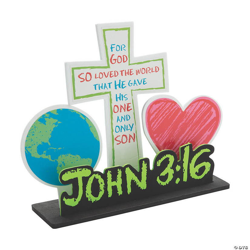 John 3:16 Stand-Up Craft Kit Image Thumbnail