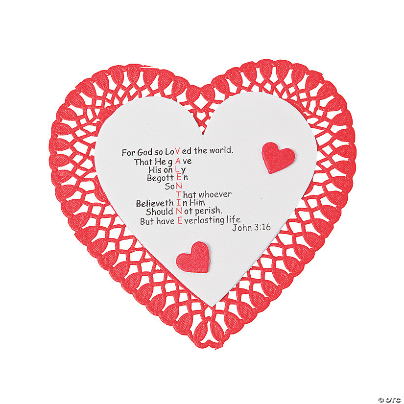 """John 3:16"" Valentine Craft Kit Image Thumbnail"