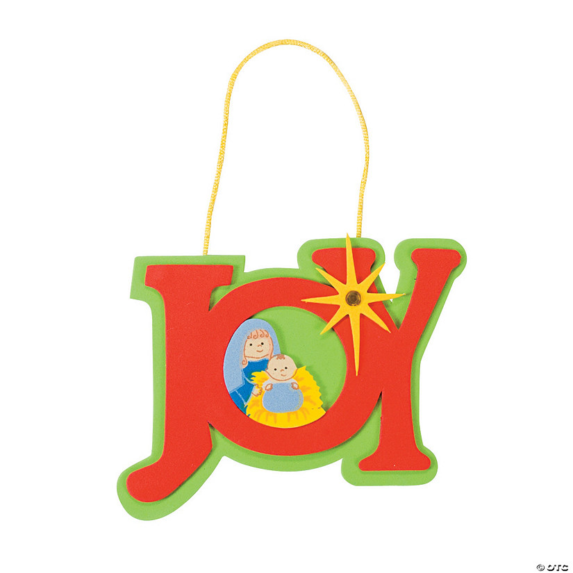 """Joy"" Nativity Christmas Ornament Craft Kit Audio Thumbnail"