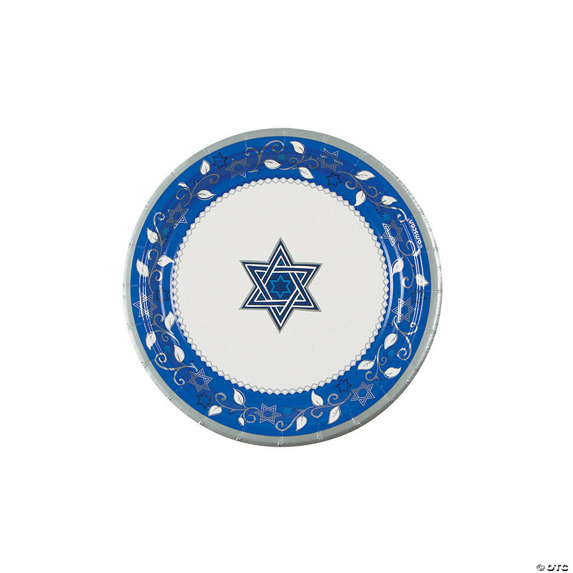 Joyous Holiday Passover Paper Dessert Plates - 8 Ct. Image Thumbnail