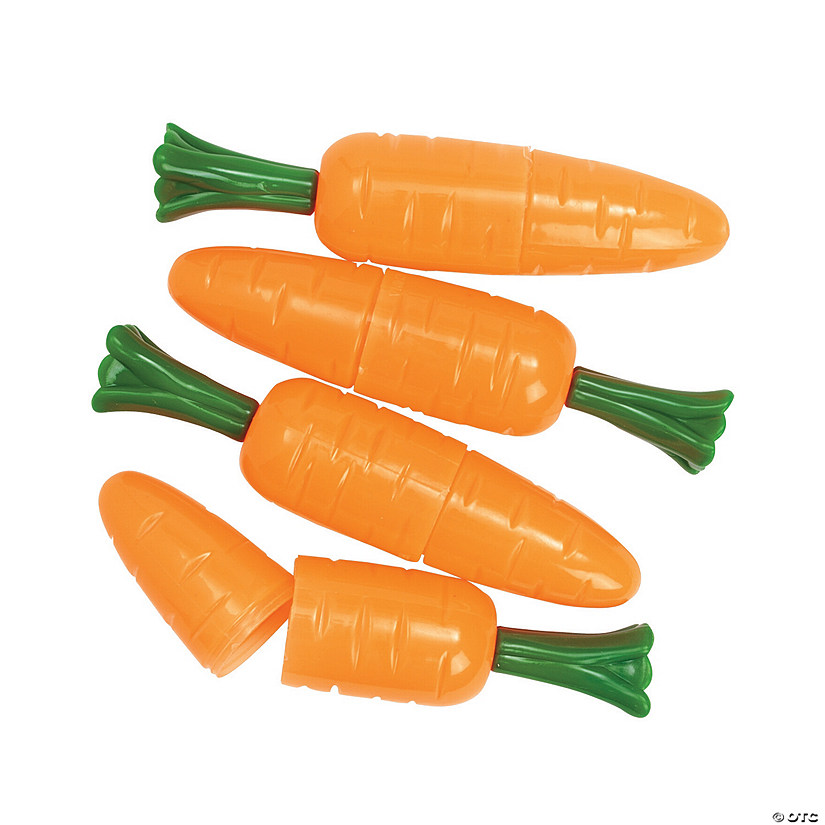 Jumbo Carrot Plastic Easter Eggs - 12 Pc. Image Thumbnail