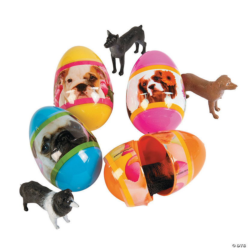 Jumbo Puppy-Filled Plastic Easter Eggs - 12 Pc. Audio Thumbnail