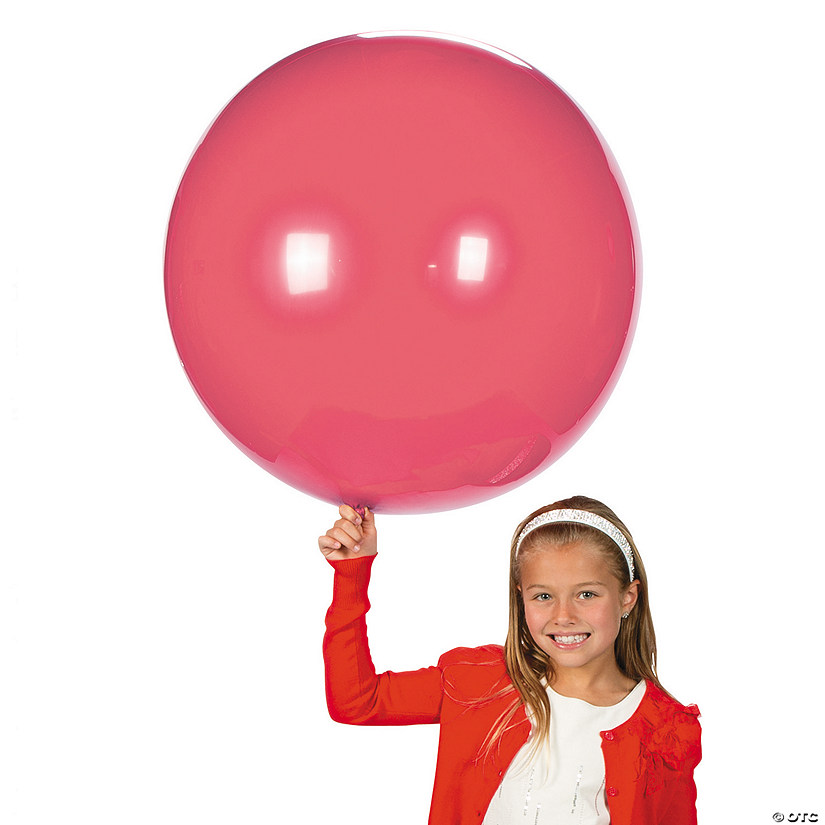 "Jumbo Rose Pink 36"" Latex Balloon Audio Thumbnail"