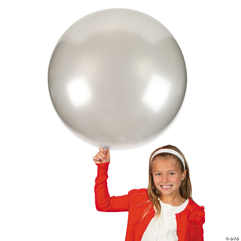 "Jumbo Silver 36"" Latex Balloons Audio Thumbnail"