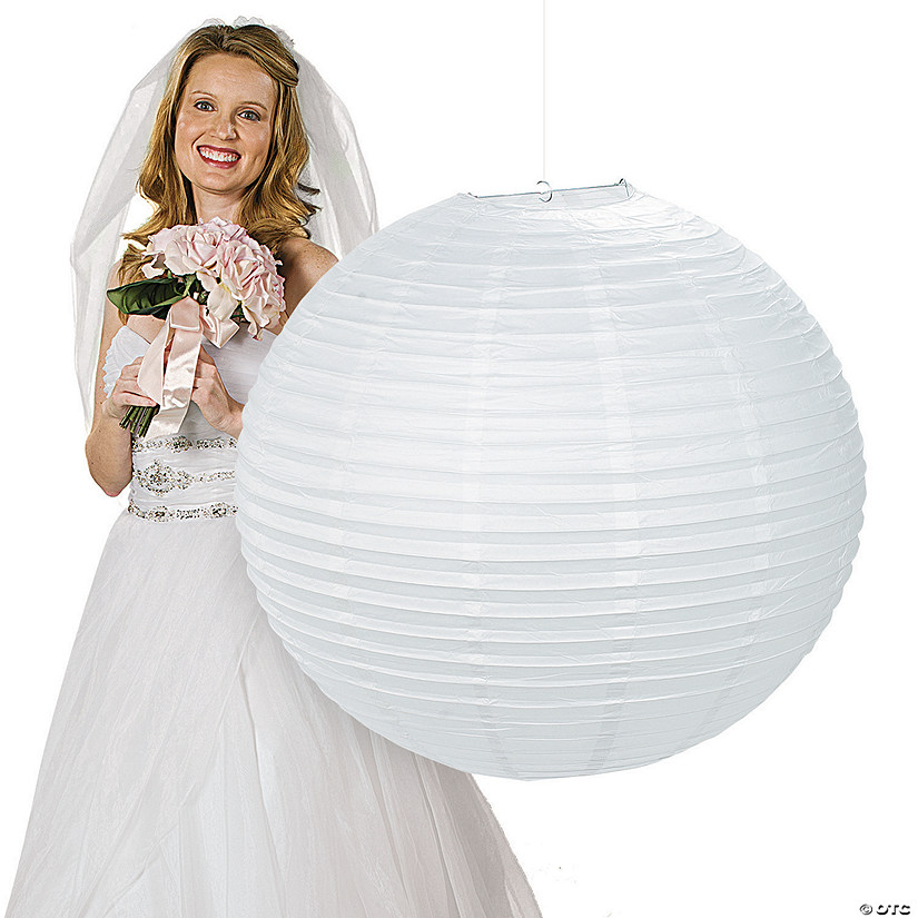 Jumbo White Hanging Party Lantern Audio Thumbnail