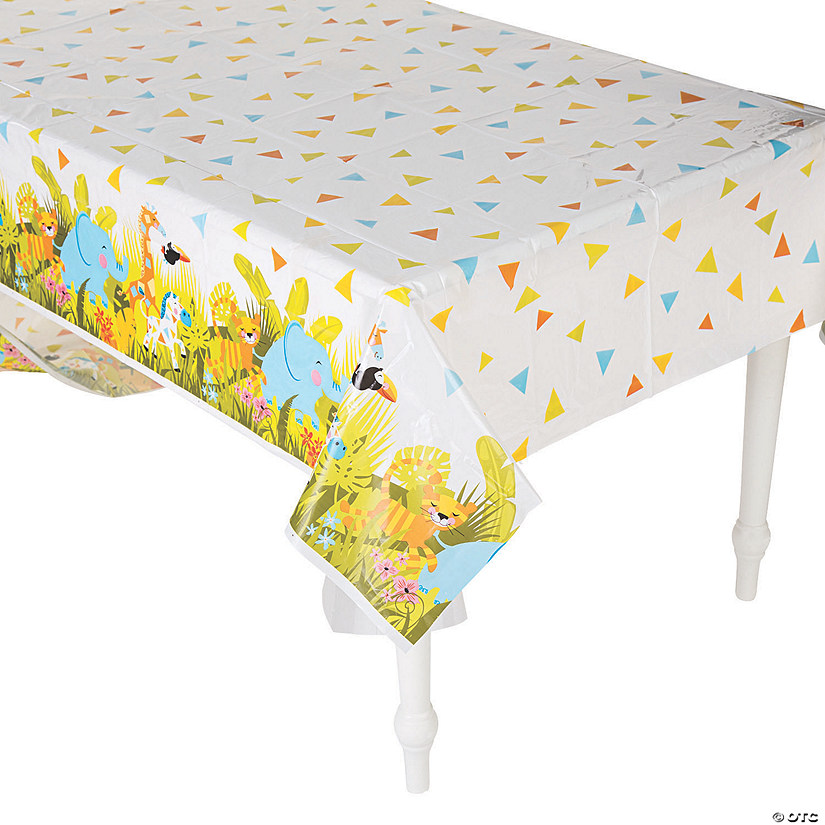 Jungle Baby Shower Plastic Tablecloth Audio Thumbnail